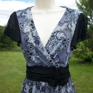 Elegant Black & White Maurices Summer Dress